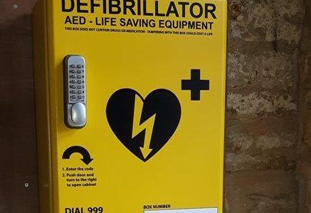 HEART STARTING Defibrillator installed now in Church Porch